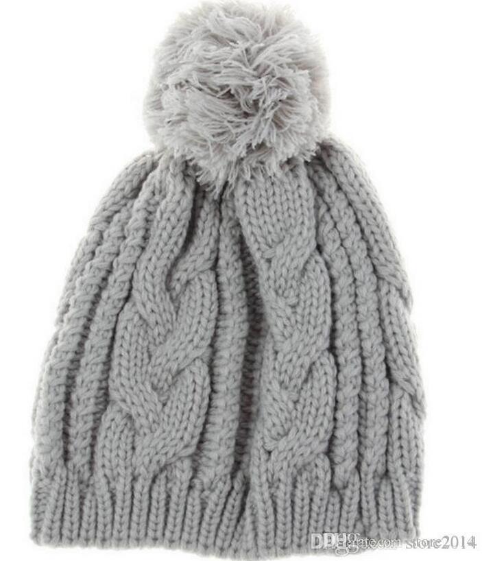 Neue Marke Luxus Pompon Mützen Elegante Strickhüte Mütze Herbst Winter Casual Cap Frauen Männer Weihnachtsgeschenk Kostenloser Versand