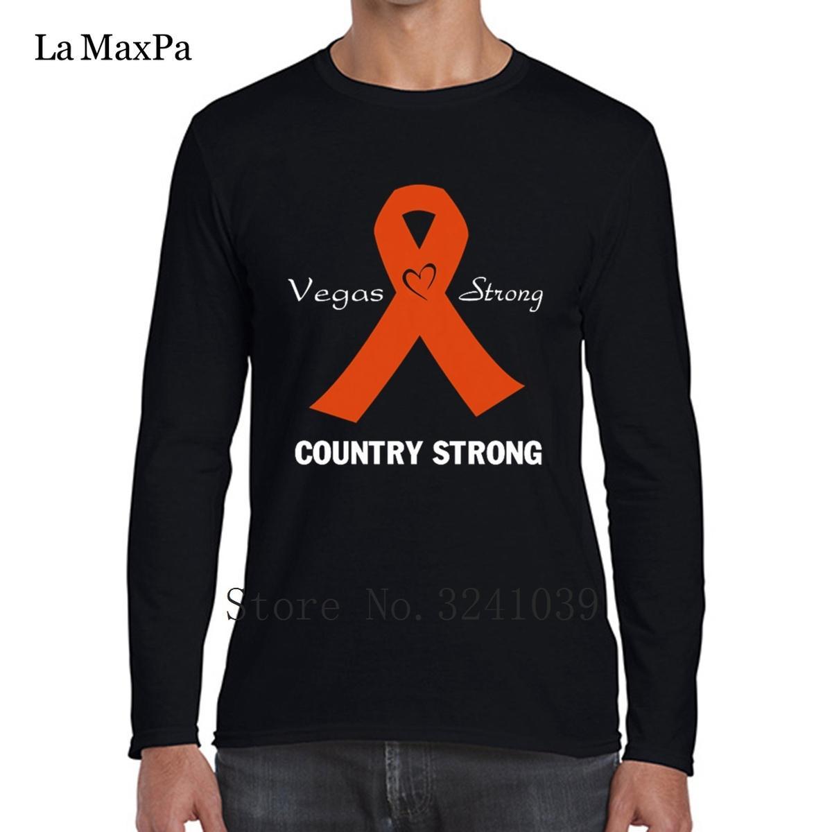 La Maxpa Design Your Own Crazy Tee Shirt Hombres Las Vegas Strong camiseta para hombre invierno Crew Neck Streetwear Regular Tshirt