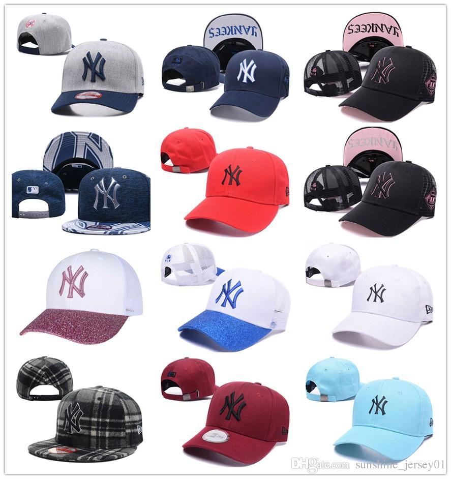 fe3ce8c49 2018 Yankees Hip Hop Mlb Snapback Baseball Caps Ny Hats Mlb Unisex ...