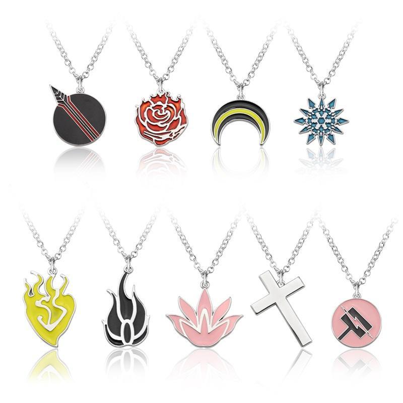 2021 RWBY Qrow Branwen chain Necklace Metal Pendant With Gift Woodbox Cosplay Otaku New