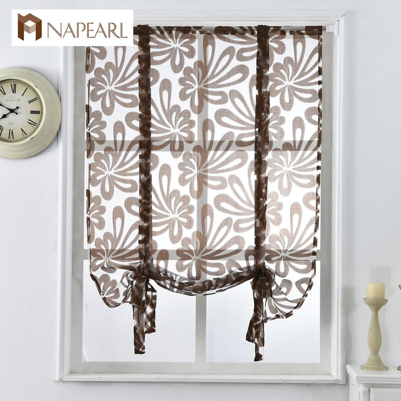 2019 Window Treatments Kitchen Short Curtains Jacquard Roman Blinds Floral  White Sheer Panel Blue Tulle Window Treatment Door Curtain Home Decor From  ...