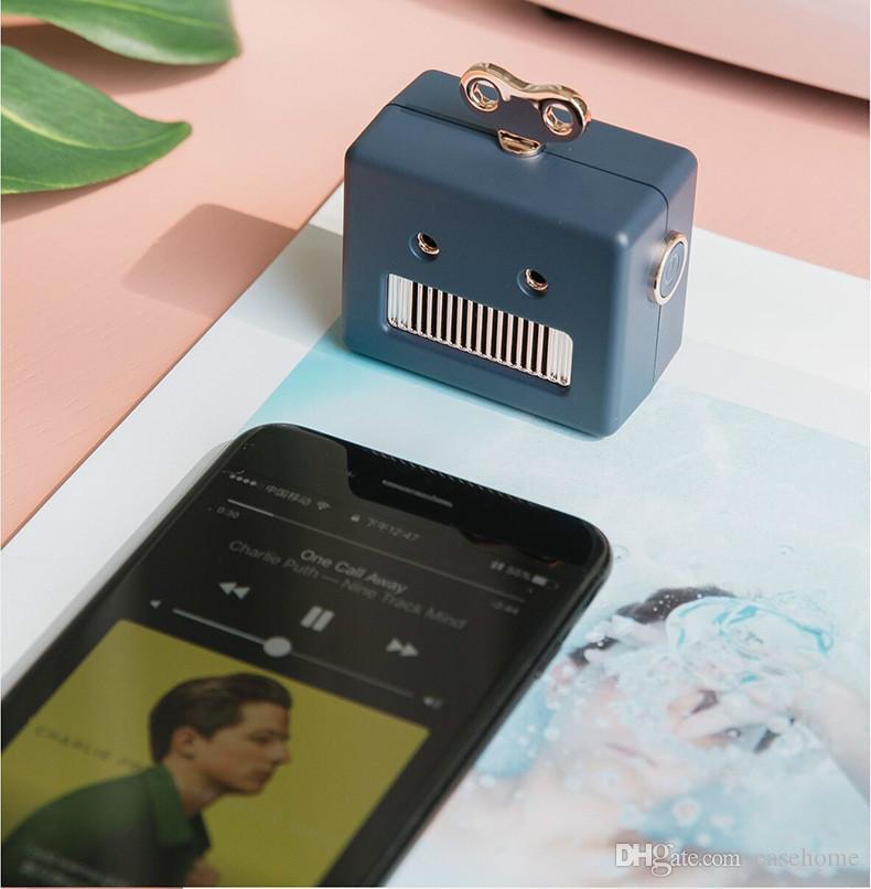Mini Alto-Falante Bluetooth Disponível Alto-falantes Portáteis Estilo Robô em 3 Cores Embalagem Delicada Longa Vida Útil Frete Grátis