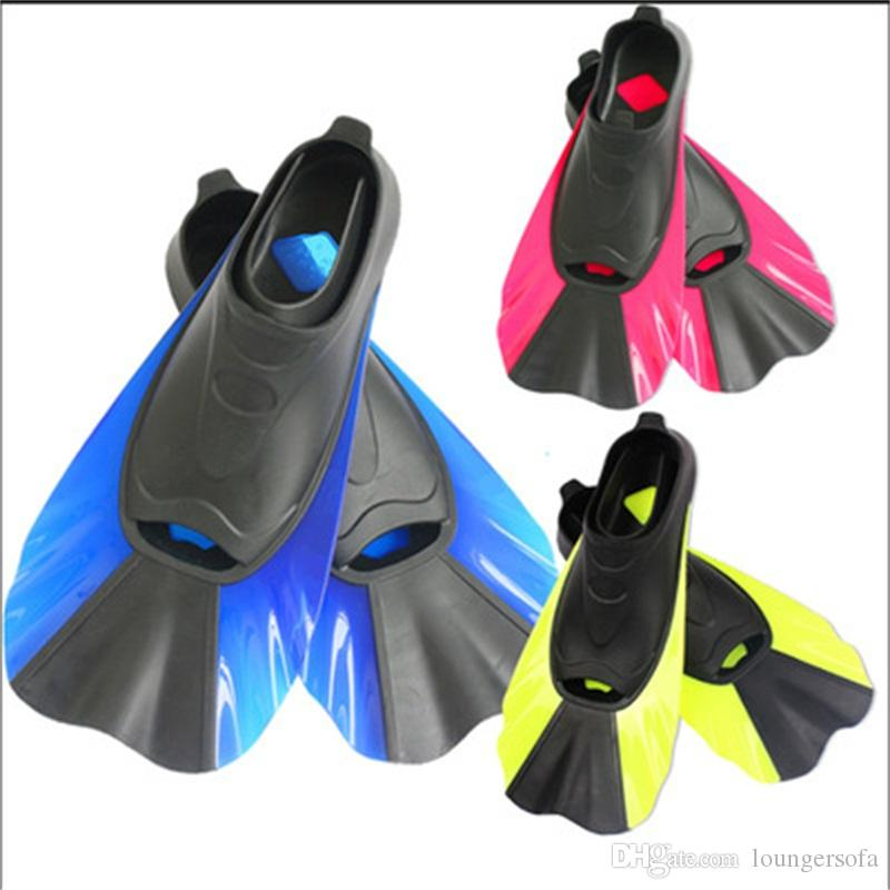Swimming Fins Adult Snorkeling Foot Flipper Kids Diving Fin Beginner Swim Equipment Portable Short Frog Shoes New 28hb dd