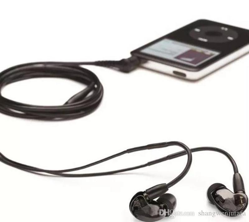 حار بيع SE215 السلكية 3.5 ملليمتر مركبتي ستيريو في الأذن سماعة إلغاء الضوضاء باس سماعة سماعة fone دي ouvido