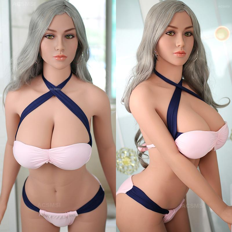 Realistic Solid Silicone Sex Doll with Metal Skeleton for Men Masturbation,Full Size Love Doll Sexy Toys Oral Anal Sex Toys