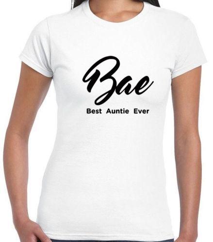 Großhandel Bae Beste Tante Ever Ladies Xmas T Shirt Lustige Tante Geschenk Womens Geschenk Teefunny Kostenloser Versand Unisex Casual Geschenk Von