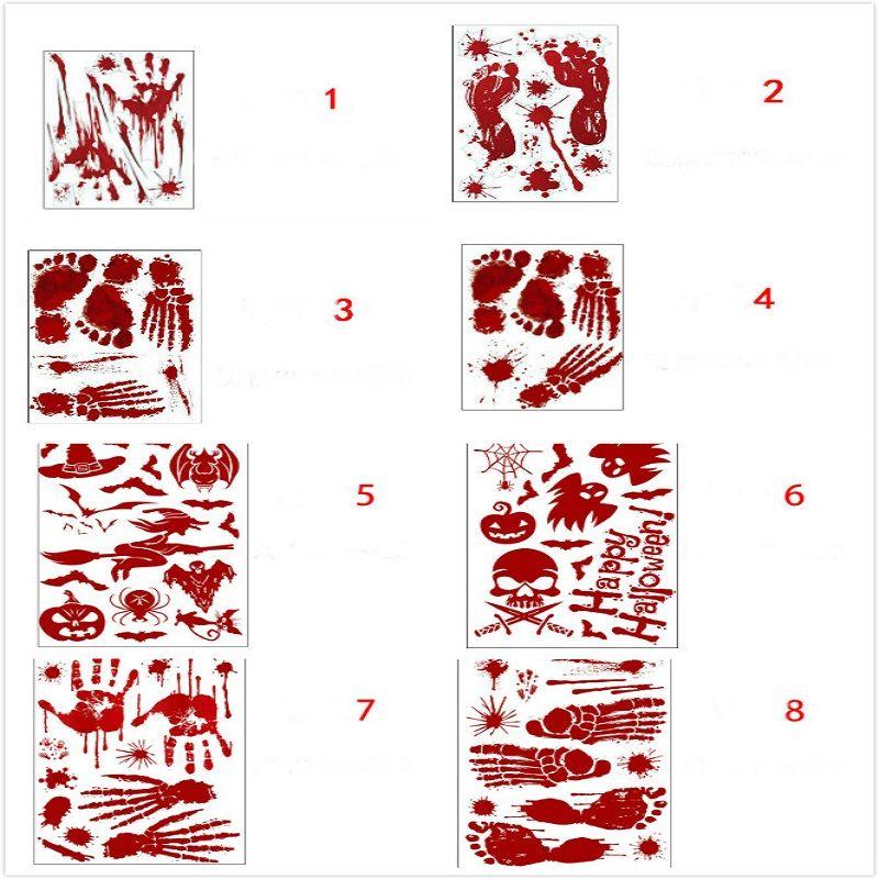 Cadılar bayramı kan ayak sticker kanlı el izleri ayak izleri çıkartmalar Pencere Duvar Çıkartmaları Vinil Çıkartmalar Malzemeleri Vampir Zombi