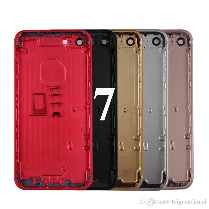 """iPhone 7 7g 4.7"""" Konut Pil Kapağı Kapı Arka Kapak Şasi Kapak iphone 7 konut Geri Çerçeve için, ücretsiz kargo"""