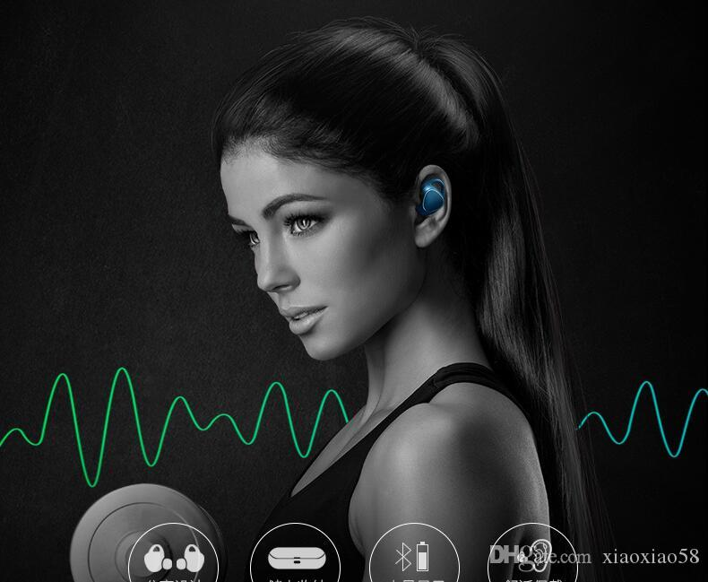 무료 배송 최고 품질의 i7s 블루투스 이어폰 무선 헤드폰 헤드셋 스테레오 이어폰 이어폰, iOS 및 Android 용 충전 박스 포함