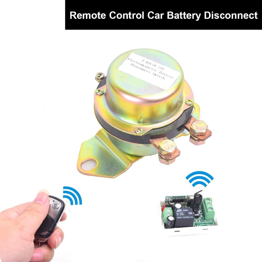 DC 12V Automobile Car Battery Switch Disconnect Remote Kit Terminal Master Kill Latching Relay Elettrovalvola elettromagnetica