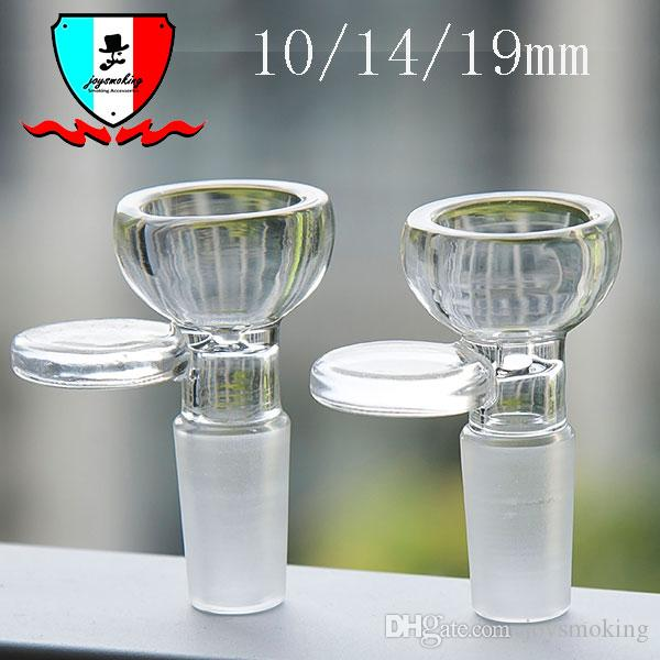 Glass Bowl With 10 14 19mm male Joint Conection Have a Small Handle on the Bowl's Side