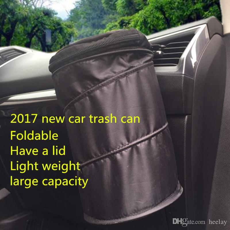 Car Auto Garbage Can Oxford Trash Can Wastebasket Garbage Dust Case Holder Bin
