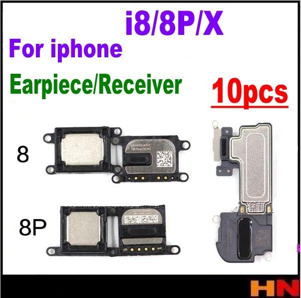 10pcs wholesale For iPhone X 8 8p plus Ear Piece Earpiece Speaker Receiver Repair Replacement Parts free shipping