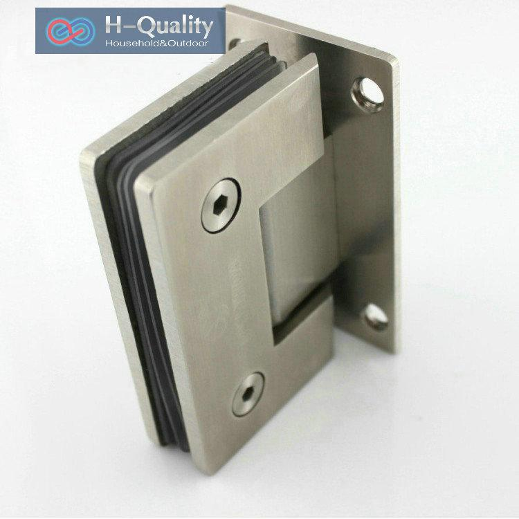 Thicken 90 Angle Precision Casting And Wire Drawing Surface Stainless Steel Glass Door Clamp, Glass Mounting Clamp, Folder