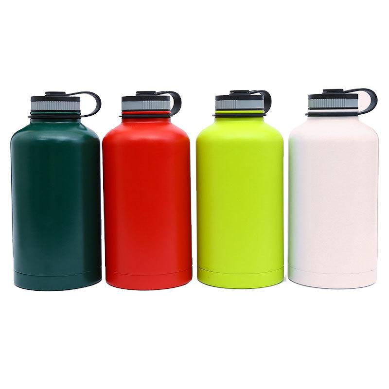Outdoor Travel Bicycle Stainless Steel Water Bottle Kettle Double-layer Cup
