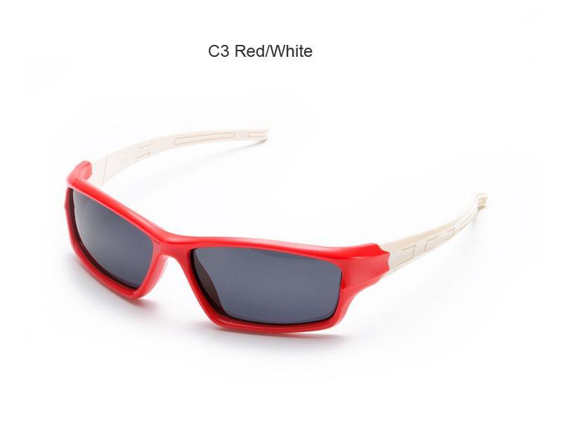 Kinder Kids Classic Style polarisierte Sonnenbrille UV400 Schutzbrille TAC Flexible Frame für Jungen Mädchen (Farbe : Orange frame white legs) iwOgv5xkz
