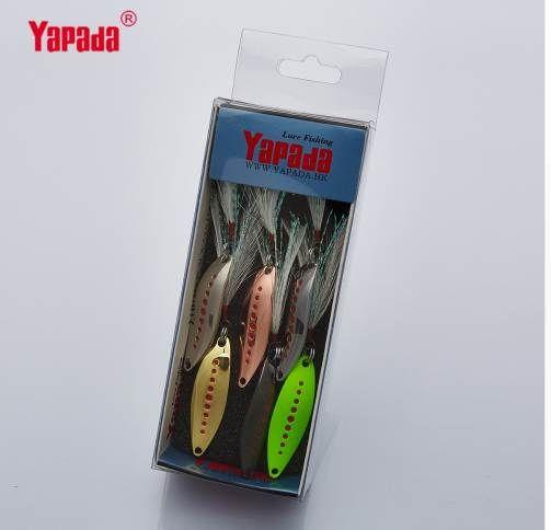 YAPADA Kaşık 012 Yeni Sülük 2g-3g-5g Renkli Tek KANCA + Tüy 33mm-38mm-45mm 6 adet / grup Metal Küçük Kaşık Balıkçılık Lures
