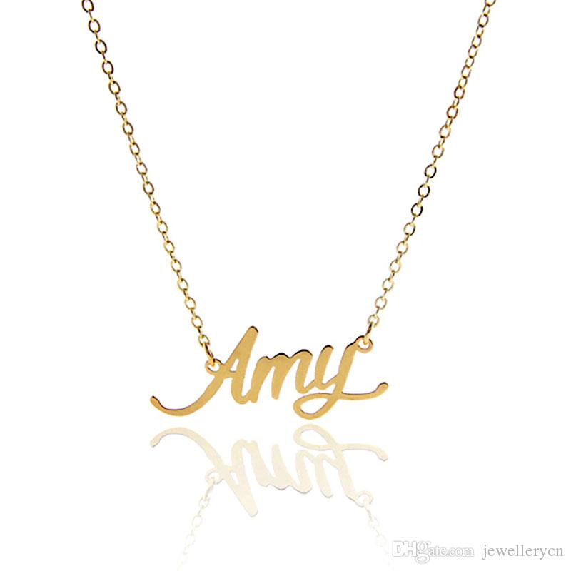 Nameplate Necklace for Women Personalized name Necklace Name Tag