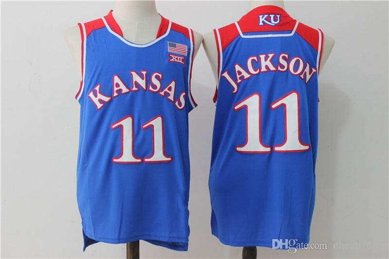2021 NCAA Kansas Jayhawks College Basketball Jersey 22 Andrew ...