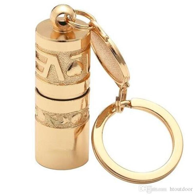 Золотой мини Портативный светодиодный фонарик Факел лампы водонепроницаемый портативный открытый кемпинг туризм Брелок фонарик мощность от кнопки батареи