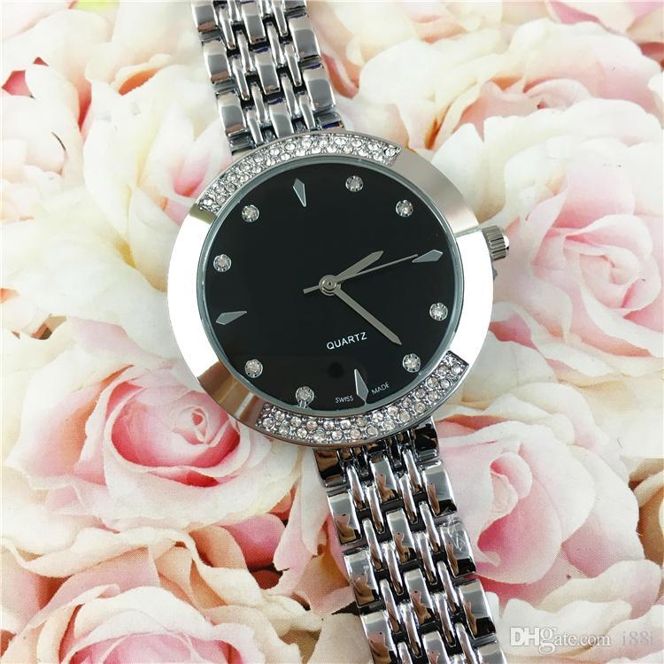 reloj Niza Nueva Mujer de lujo de diamantes señoras de la manera mira joyería famoso de oro rosa / plata hebilla del envío de la gota Mujeres de relojes de alta calidad