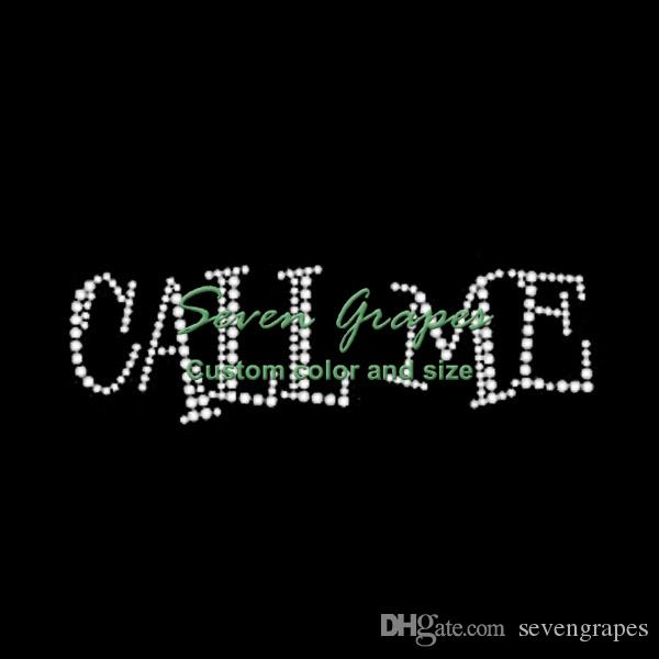 Call Me Rhinestone Transif Transfers for t-Shirt