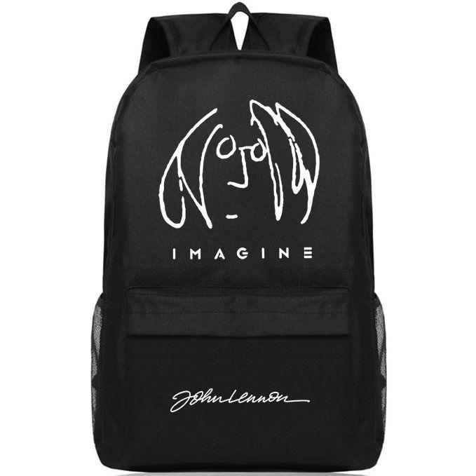 لينون على ظهره حقيبة حزمة جون اليوم روك المدرسة فرقة الموسيقى packsack الجودة حقيبة الرياضة المدرسية Daypack حقيبة في الهواء الطلق