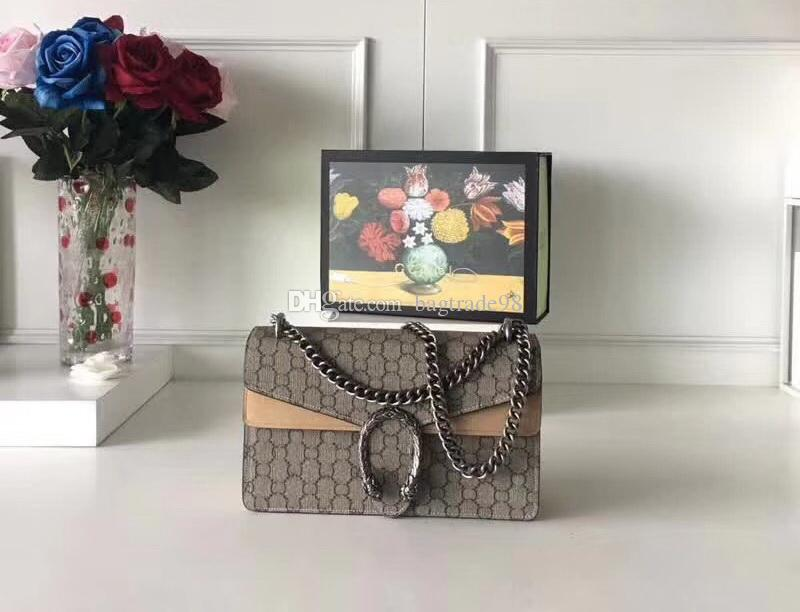 حقائب اسم العلامة التجارية للمرأة جودة عالية حقيقية الجلود سلاسل الحقائب BY # 13 حقيبة كتف اليد لديها حقائب الغبار محافظ