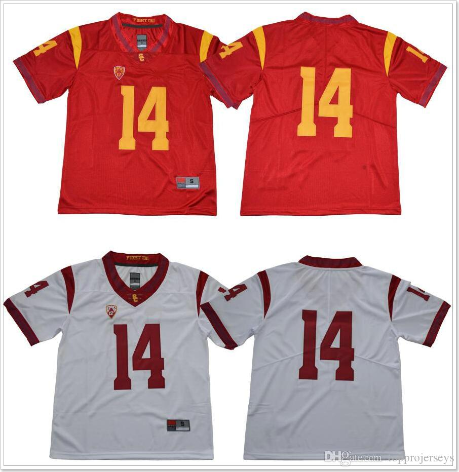 2019 New Usc Trojans 14 Sam Darnold Mens Vintage College American Football Sports Shirts Pro Team Jerseys Uniforms Stitched Embroidery On Sale From