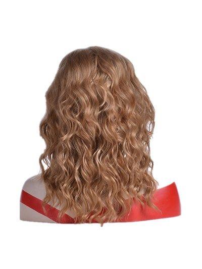 2018 vente directe nouvelle de femmes de perruque brune courte Vague de chaleur à haute température synthétique résistant à la fibre des cheveux Rose Net Perruques humaine