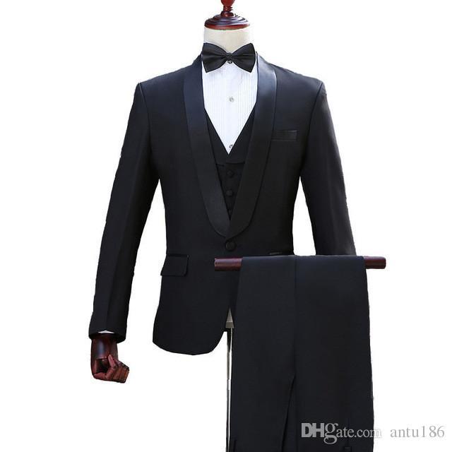 Özelleştirilmiş yeni en çok satan moda erkek erkek şal yaka takım elbise iki parçalı (ceket + pantolon) erkek iş resmi takım elbise