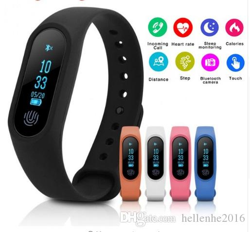 Neueste Smart Band M2 Wasserdichte Band Pulsmesser Bluetooth Smart Armband Schlaf Fitness Tracker Schrittzähler Armband