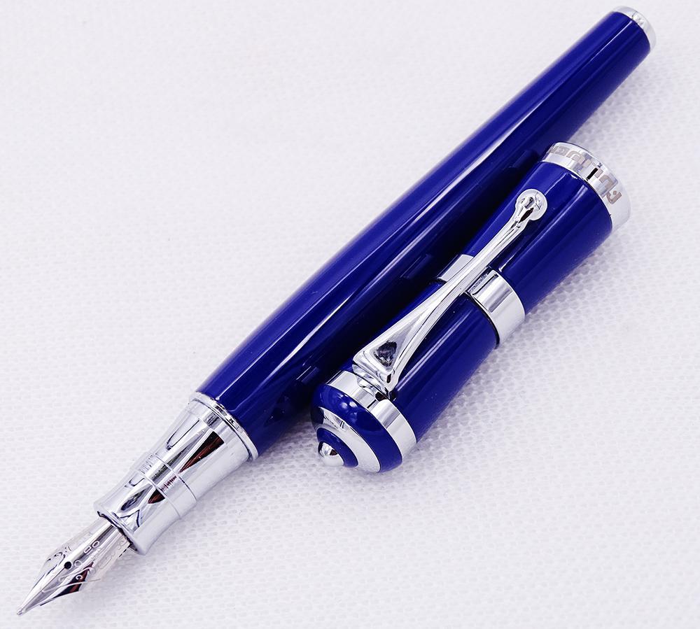 Fuliwen 2051 Metal dolma kalem, Office Ev Okulu, Erkekler ve Kadınlar için Taze Moda Stil İnce uçlu 0.5mm Güzel Mavi