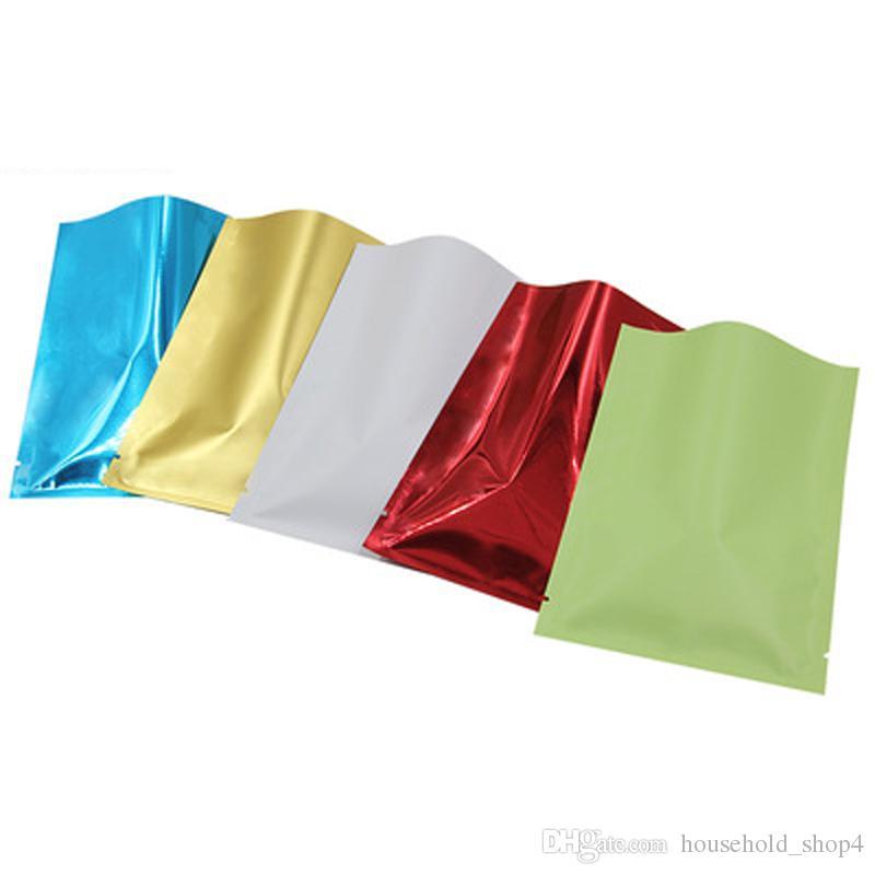 5 * 8CM الألومنيوم أكياس رقائق الحقائب الصغيرة الملونة حزم طباعة الأغلفة الطابق قناع العين الشاي عينات مسحوق كيس مختوم الحقائب