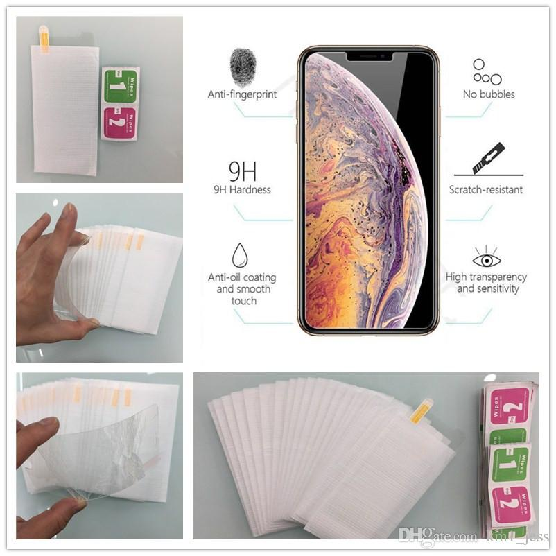 For Phone XS MAX XR X 8 7 Plus Huawei Mate 20 Pro 2.5D 9H Tempered Glass Film Screen Protector No Package