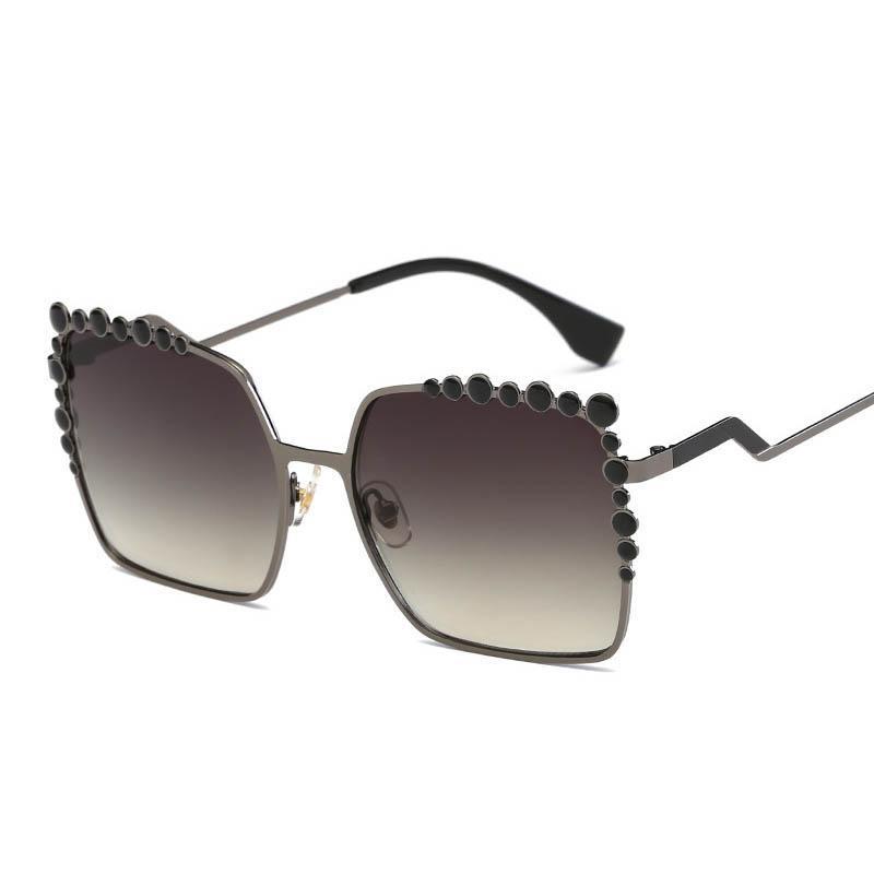 Oculos Nuovi occhiali da sole quadrati Donne Diamond Superstar Designer 2021 Brand Fashion rosa occhiali da sole oversize trasparente femmina TDKJK