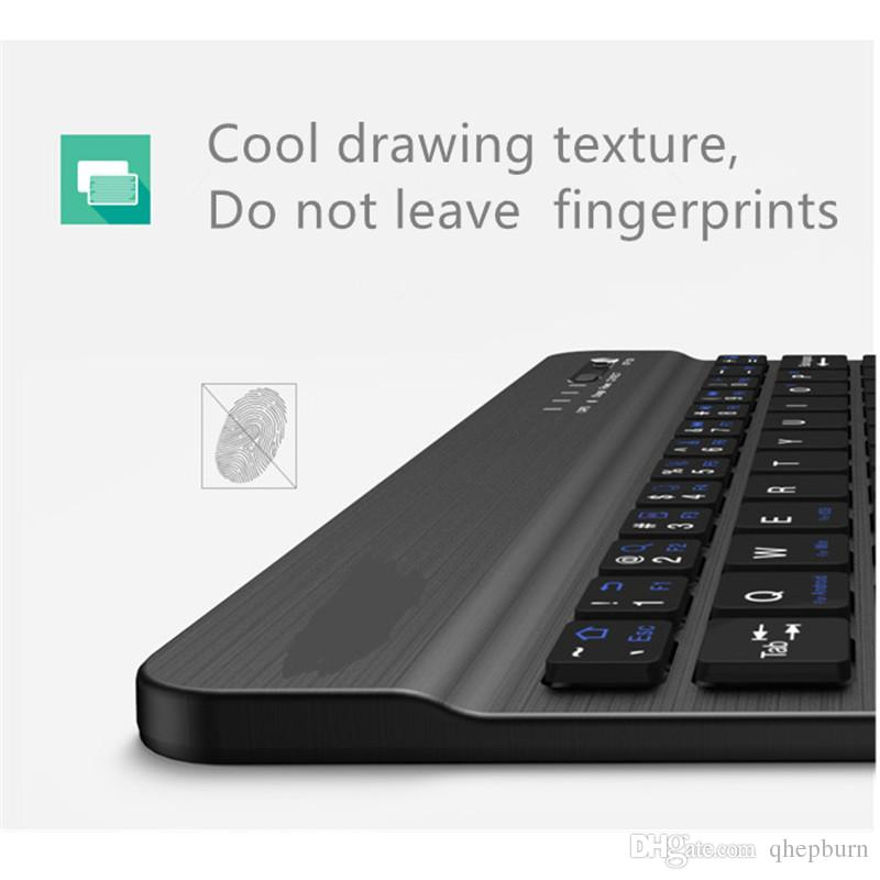 HOUER Wireless Bluetooth Keyboard with Charging Support Smartphone Tablet PC Desktop Laptop