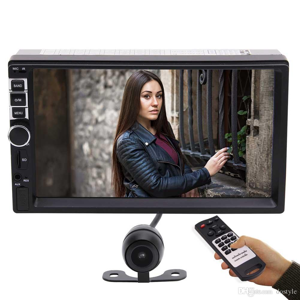 """Universal 7"""" Double-Din In-Dash HD Car Radio MP5 Bluetooth Radio Entertainment Stereo Player Receiver Steering Wheel Control Remote Control"""