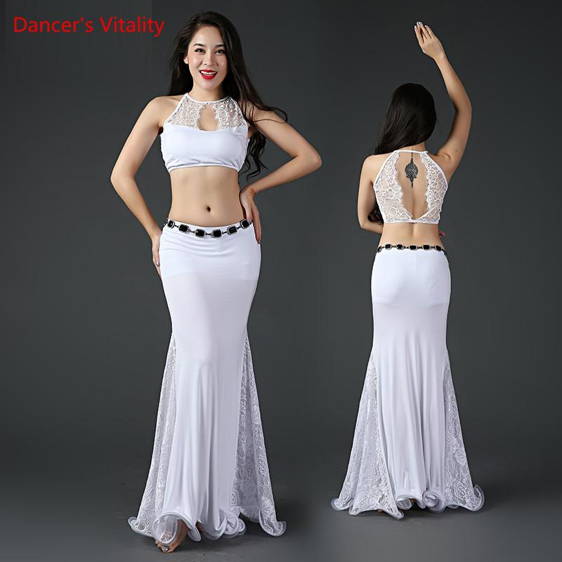 2019 Bellydance Costume Belly Dance Women Clothes Top And Performance Skirt  Belly Dancewear Lace +Modal Skirt Prom Dresses From Peay, &Price
