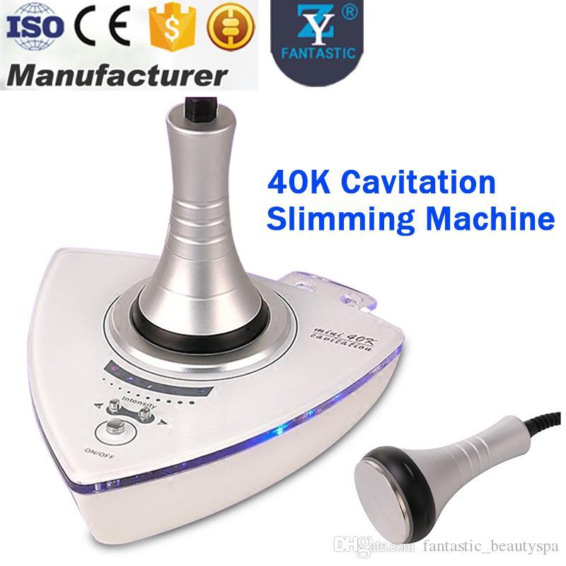 Buen efecto fuerte ultrasónico 40K cavitación que adelgaza la máquina Quema de grasa eliminación de celulitis Cuerpo forma piel firme Mini equipo de pérdida de peso