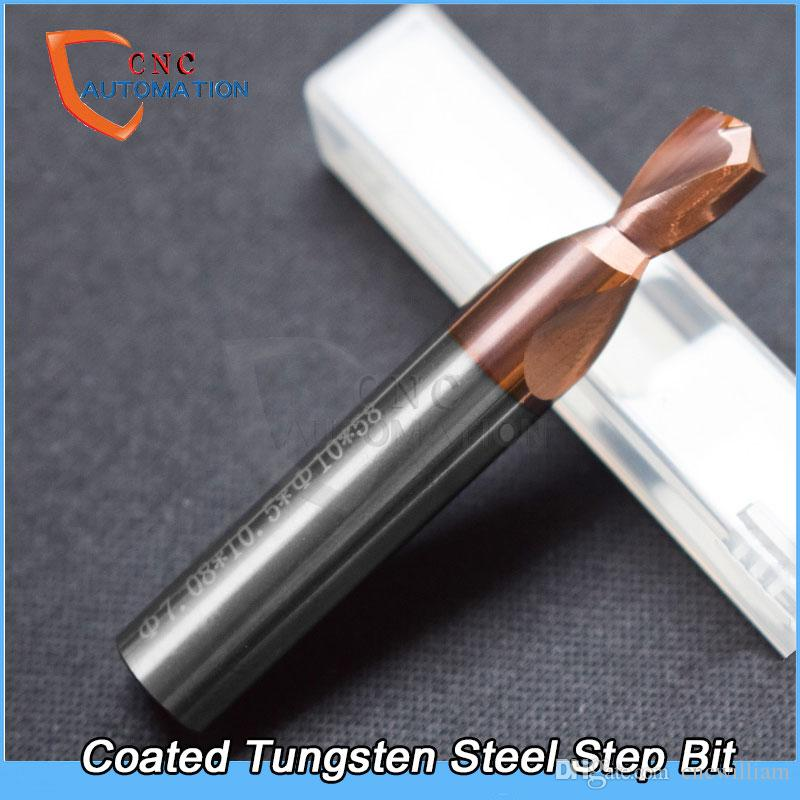 Non standard customized step drill Tungsten steel countersink drill two level coated carbide lad multiple diameter drill
