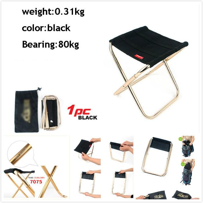 Outdoor Mini Folding Chair 7075 Aluminum Alloy Fishing Chair Barbecue Bench Folding stool Portable Trainer Camping Camphor