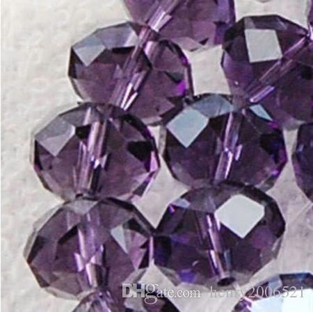 70 pcs en gros 8mm cristal violet perles en vrac 15 pouces