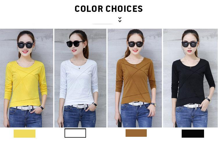 Plus Size Tshirt Women T-shirt Tee Tops Femme Autumn Long Sleeve T-shirts For Women 2019 Casual Cotton Tops Tees Camisetas Mujer (3)