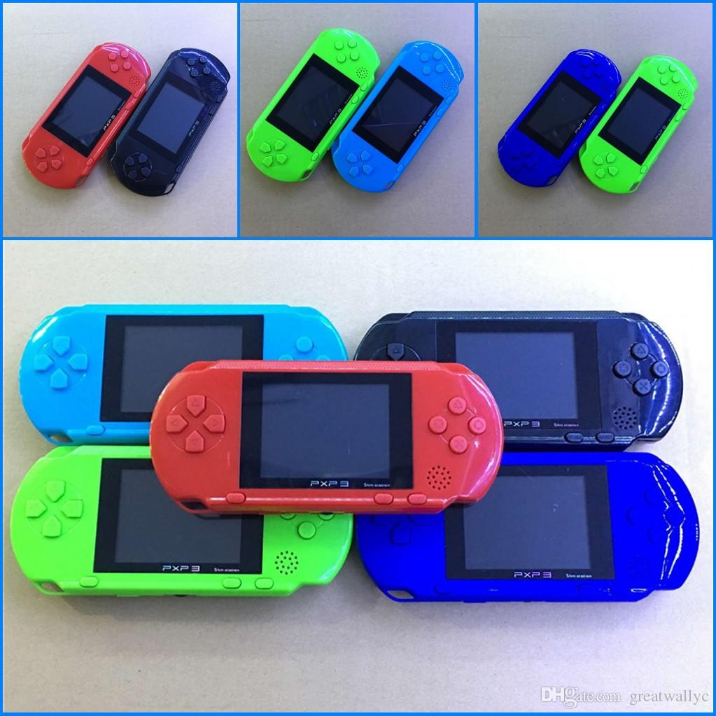 Factory Wholesale Portable PXP3 Games Video Console 16 Bit PVP TV-Out Games PXP Card Station Gaming Console Player Child Intelligence games