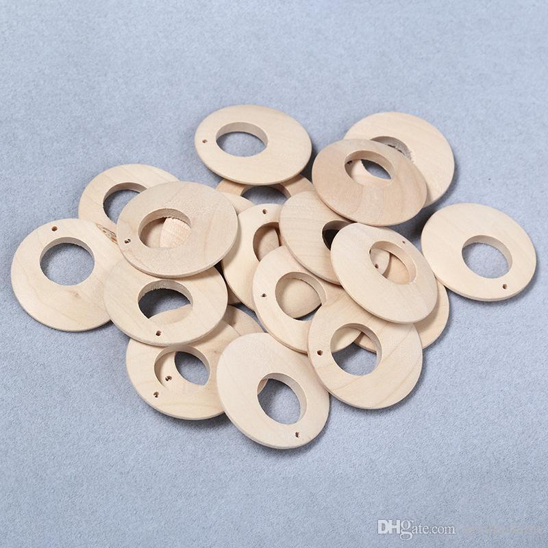 50 قطعة / الوحدة 40 ملليمتر diy فضفاض جولة unfinshed خشبي فاصل الخرز الخشب الطبيعي الخرز للقلادة أقراط جعل النتائج مجوهرات