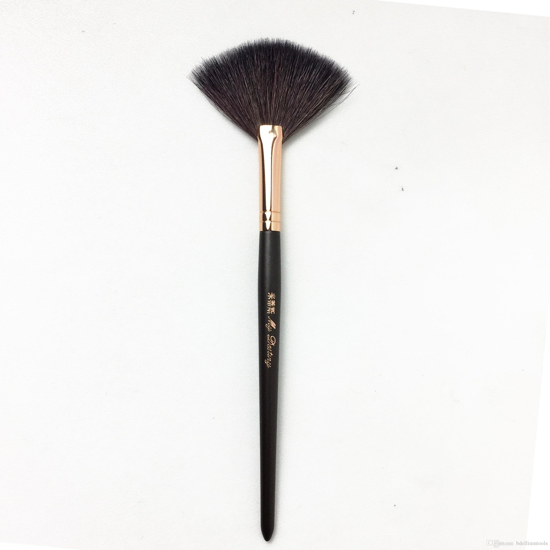Benim Kaderim 051 Pro Fan Fırçası - Porsuk Saçı Uzman Finish Pudra Fırçası - Kaliteli Makyaj Fırçaları Blender Aplikatörü
