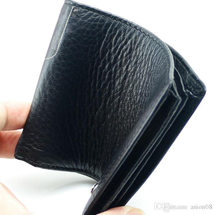 Мужчины Роскошный Натуральная Кожа MT Wallet Man Cash Cash, Роскошная Металлическая Запонка Деловой Человек Рубашка Медь MB Запонки Бизнес товары