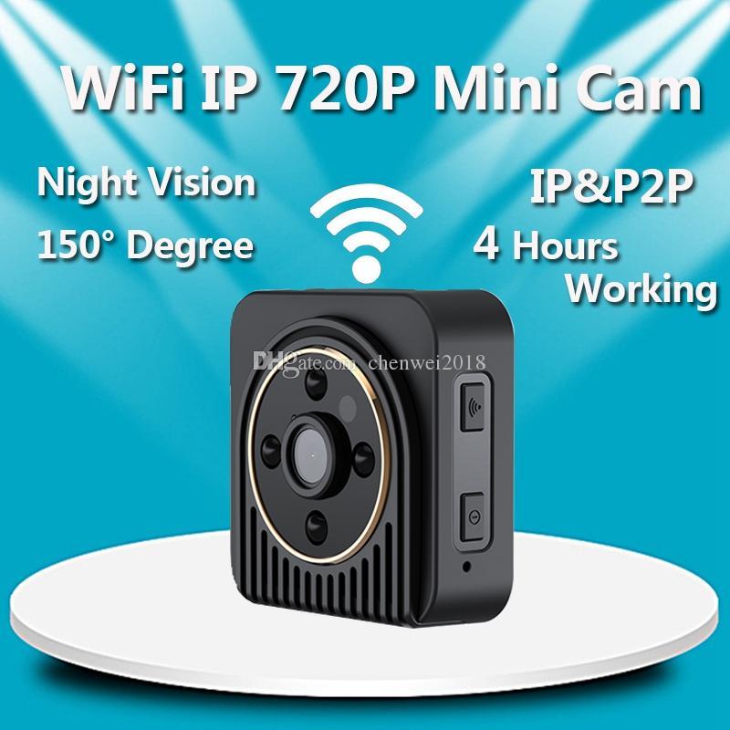 H5 HD 720P Mini Camera Wifi IP Body Camera Wireless network Night Vision Micro Camera Digital Video Camcorder Motion Sensor Mini Cam