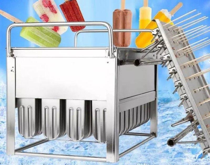 O aço inoxidável do gelado do picolé molda o molde do lolly de gelo do molde 40pieces uso comercial soldadura do robô do plasma de alta qualidade com suporte LLFA da vara